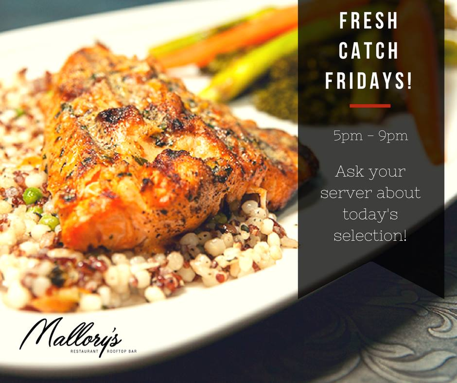 Mallory's Restaurant and Rooftop Fresh Catch Friday's Special