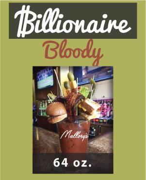 MALLORY'S ROOFTOP BILLIONAIRE BLOODY MARY, 64 OZ
