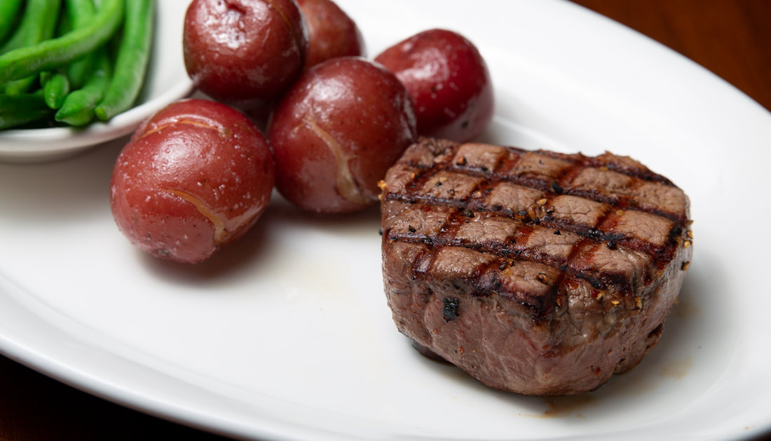 6 oz. Tenderloin Filet -- Mallory's Restaurant & Rooftop Bar, © 2020