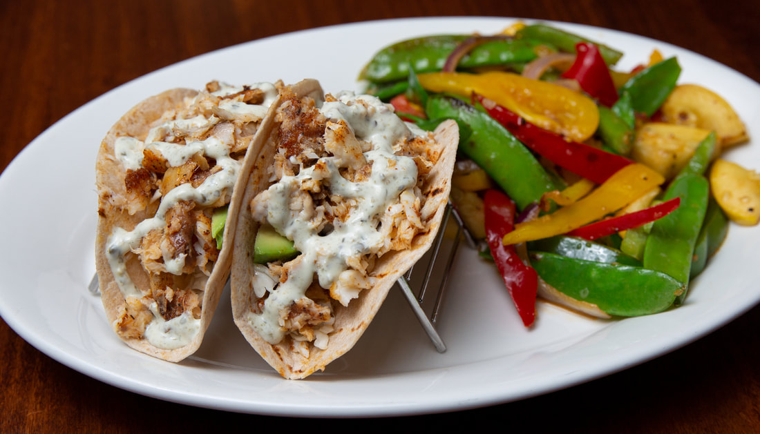 Fish Tacos Picture -- Mallory's Restaurant & Rooftop Bar, 