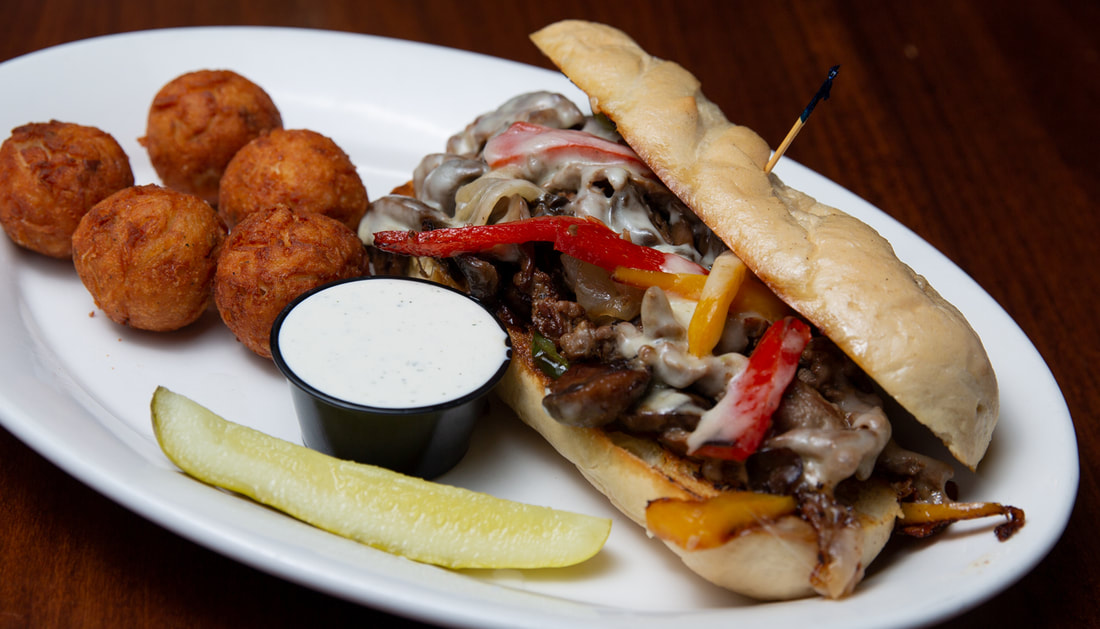 Loaded Philly Cheesesteak Picture -- Mallory's Restaurant & Rooftop Bar, 