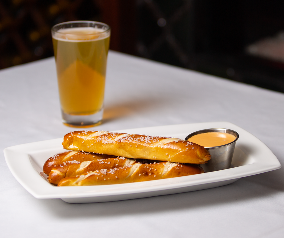 Bavarian Pretzel Sticks Picture -- Mallory's Restaurant & Rooftop Bar, 