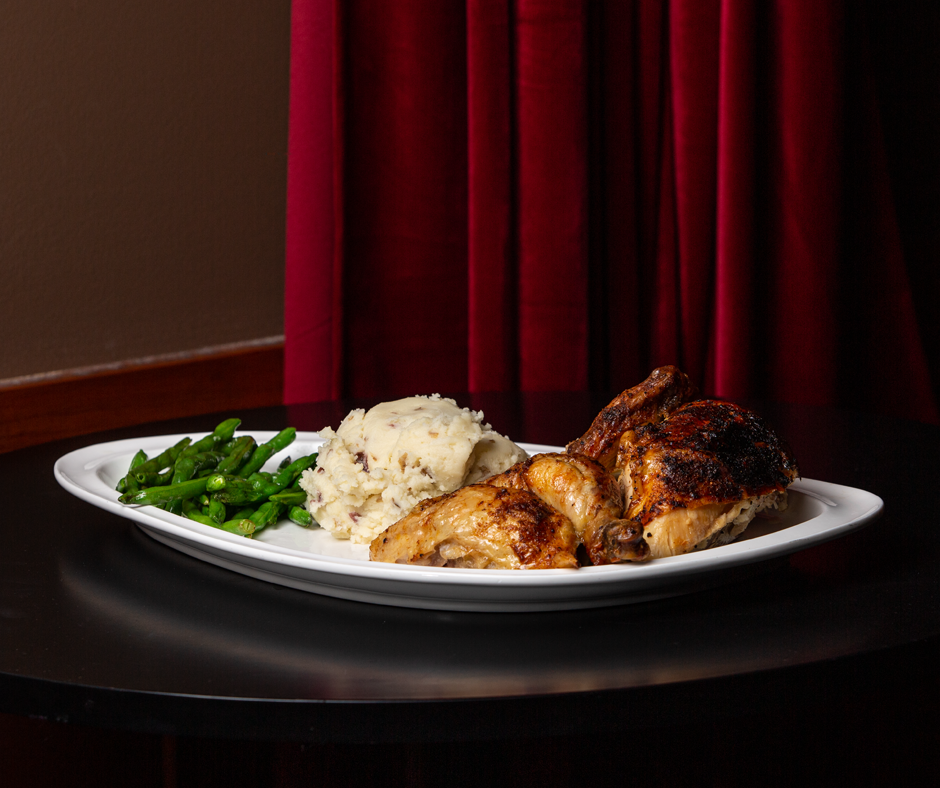Rotisserie Chicken Picture -- Mallory's Restaurant & Rooftop Bar, 